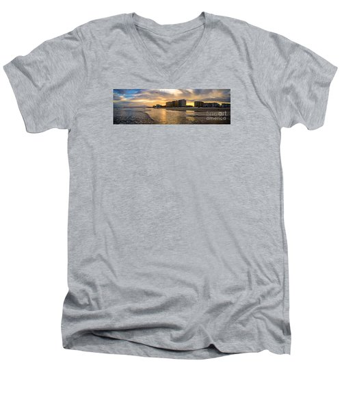 North Myrtle Beach Sunset Men's V-Neck T-Shirt by David Smith