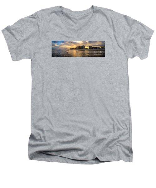 North Myrtle Beach Sunset Men's V-Neck T-Shirt