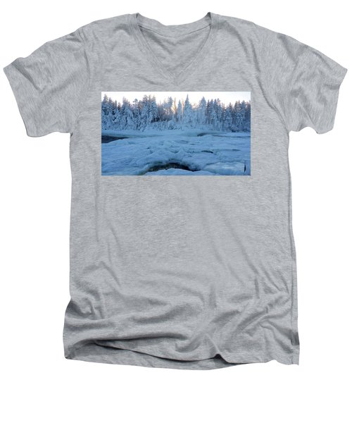 North Of Sweden Men's V-Neck T-Shirt by Tamara Sushko