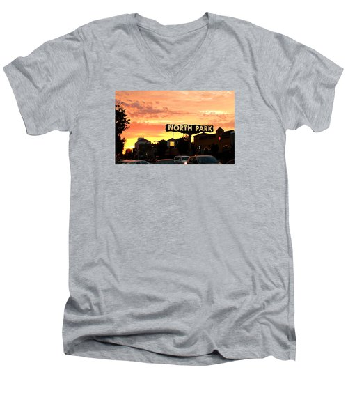 San Diego North Park Sun Men's V-Neck T-Shirt