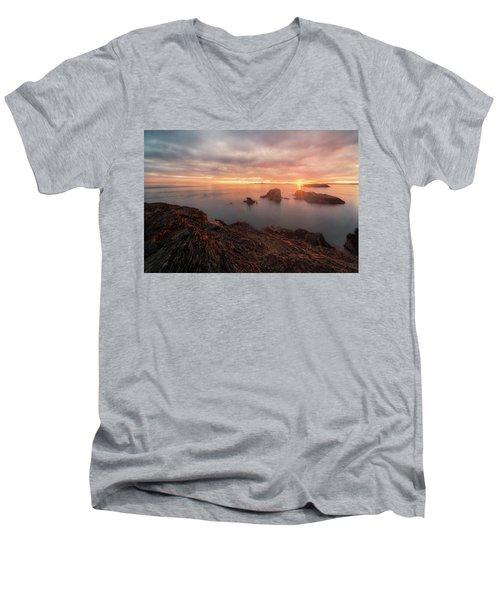 North Puget Sound Sunset Men's V-Neck T-Shirt