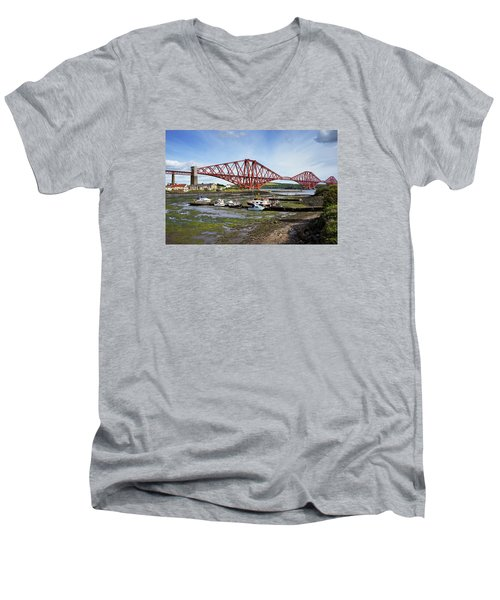 Men's V-Neck T-Shirt featuring the photograph North Queensferry by Jeremy Lavender Photography