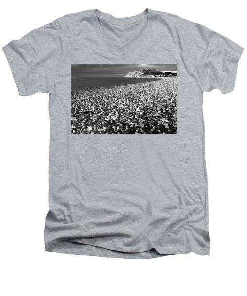 North Shore And Little Orme, Llandudno Men's V-Neck T-Shirt