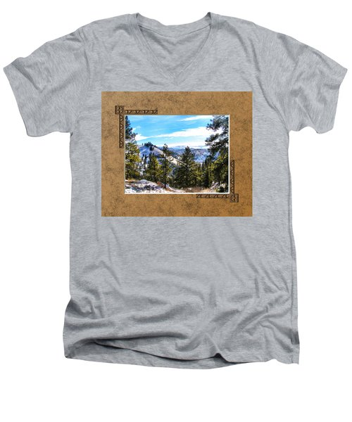 Men's V-Neck T-Shirt featuring the photograph North View by Susan Kinney