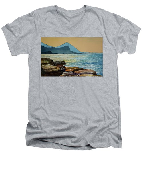 Northeast Coast Of Taiwan Men's V-Neck T-Shirt