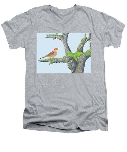 Northern Flicker Men's V-Neck T-Shirt