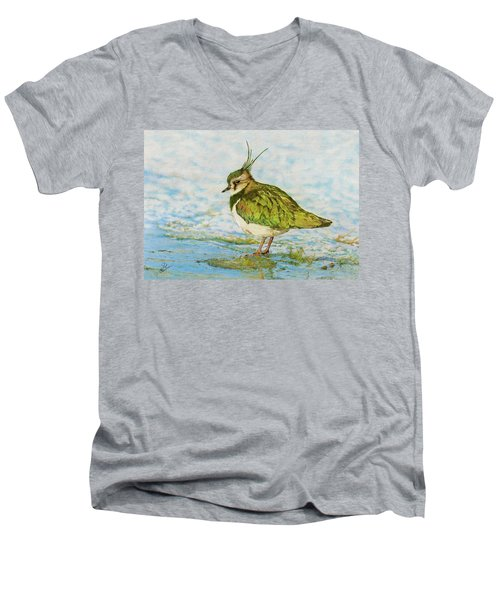 Northern Lapwing Men's V-Neck T-Shirt by John Birnie