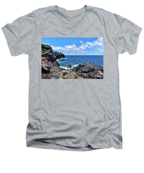 Northern Maui Rocky Coastline Men's V-Neck T-Shirt