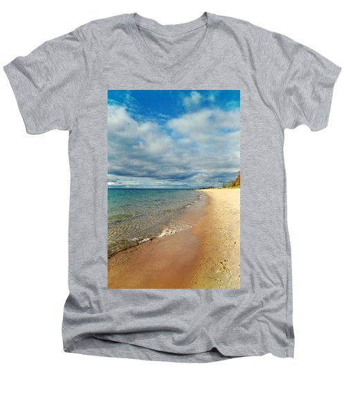 Men's V-Neck T-Shirt featuring the photograph Northern Shore by Michelle Calkins