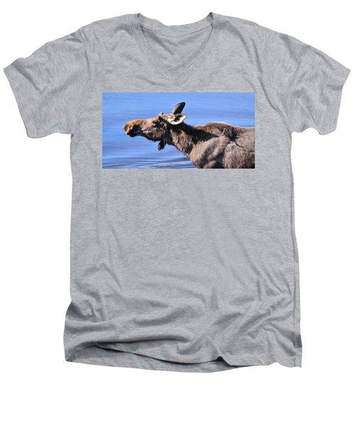 Nose First - Moose Men's V-Neck T-Shirt