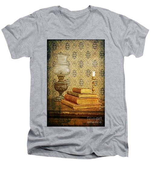 Men's V-Neck T-Shirt featuring the photograph Nostalgic Memories by Heiko Koehrer-Wagner
