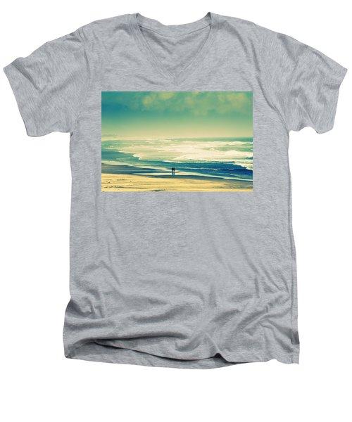 Nostalgic Oceanside Oregon Coast Men's V-Neck T-Shirt
