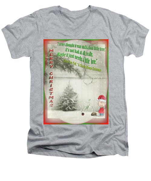 Not A Bad Little Tree Men's V-Neck T-Shirt