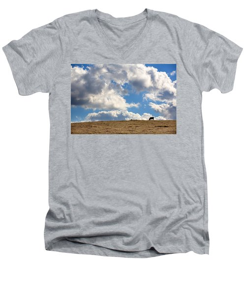 Not A Cow In The Sky Men's V-Neck T-Shirt