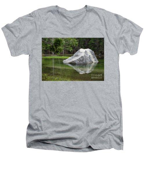 Not An Iceberg Men's V-Neck T-Shirt by Debby Pueschel