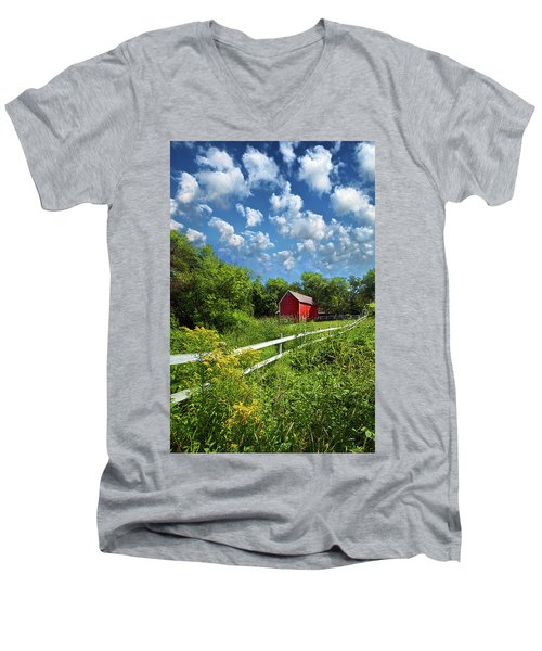 Noticing The Days Hurrying By Men's V-Neck T-Shirt by Phil Koch