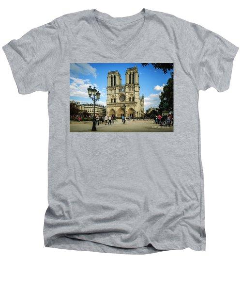 Notre Dame Cathedral Men's V-Neck T-Shirt