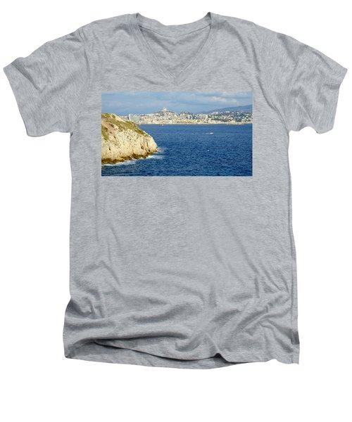 Notre Dame De La Garde Marseille  Men's V-Neck T-Shirt
