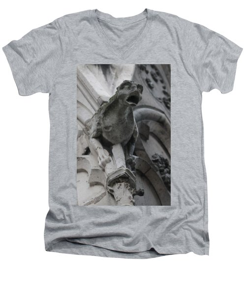 Notre Dame Gargoyle Grotesque Men's V-Neck T-Shirt