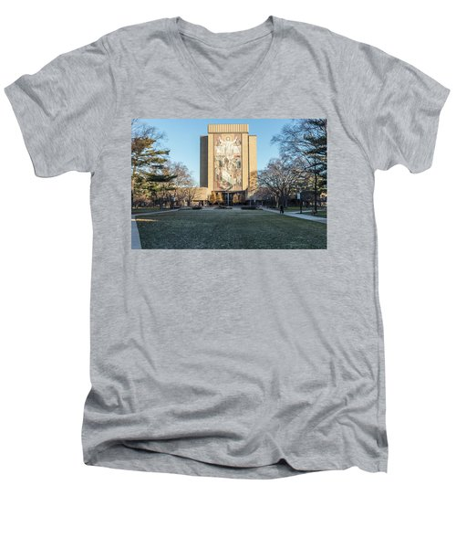 Notre Dame Touchdown Jesus  Men's V-Neck T-Shirt