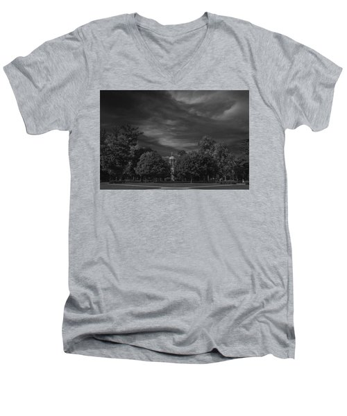 Men's V-Neck T-Shirt featuring the photograph Notre Dame University 6a by David Haskett