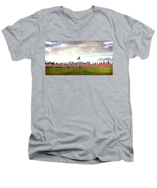 Men's V-Neck T-Shirt featuring the photograph Nov5th Memorial - No.2009 by Joe Finney