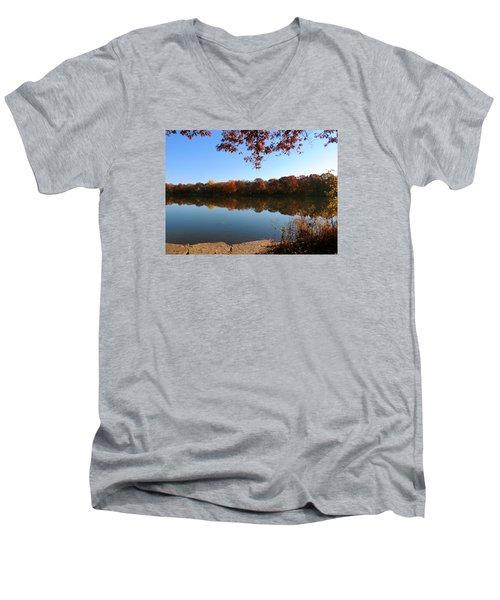 November Colors Men's V-Neck T-Shirt by Teresa Schomig
