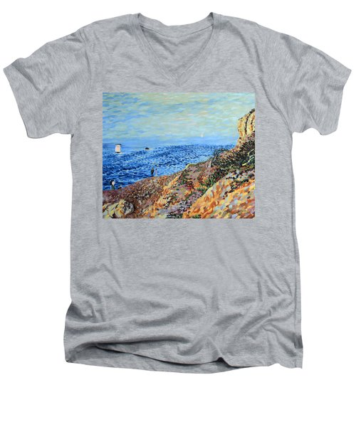 November Day At Point Lobos San Francisco Men's V-Neck T-Shirt