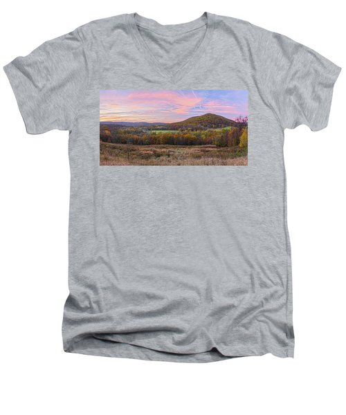 November Glowing Sky Men's V-Neck T-Shirt
