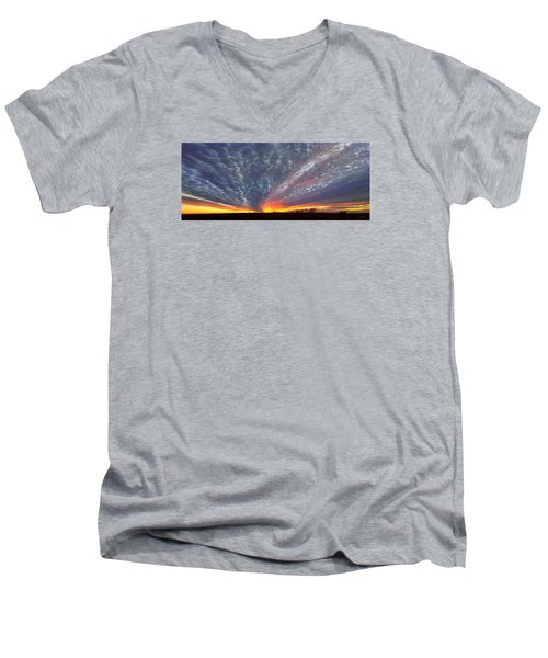 November Magic Men's V-Neck T-Shirt by Rod Seel