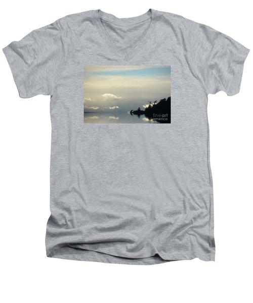 November Sky Men's V-Neck T-Shirt by Elaine Hunter