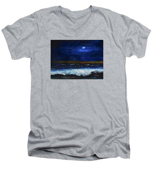 November Sunset At The Beach Men's V-Neck T-Shirt
