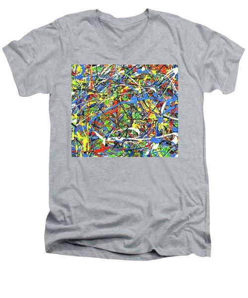 NOW Men's V-Neck T-Shirt by Elf Evans