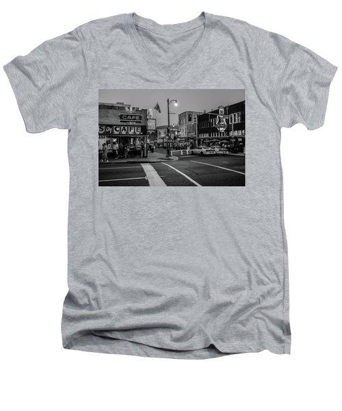 Now Entering Beale  Men's V-Neck T-Shirt