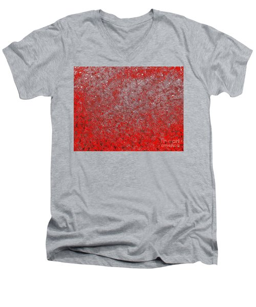 Now It's Red Men's V-Neck T-Shirt by Rachel Hannah