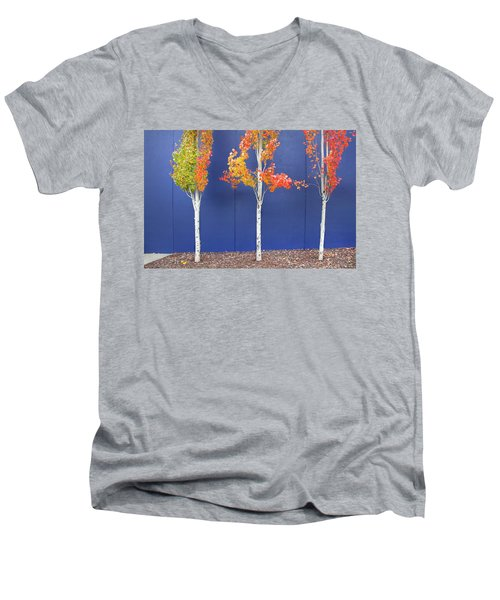 Now Showing Men's V-Neck T-Shirt by Theresa Tahara