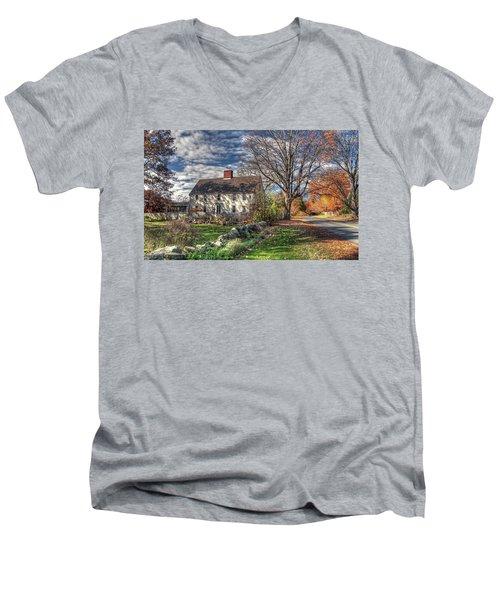 Noyes House In Autumn Men's V-Neck T-Shirt