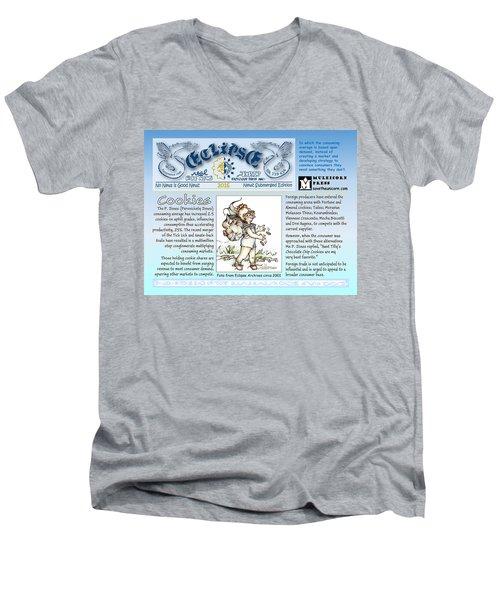 Real Fake News Cookies Excerpt Men's V-Neck T-Shirt