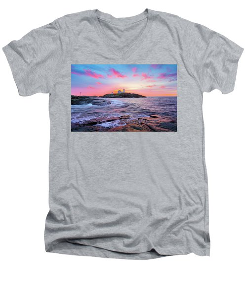 Nubble Sunrise Surprise Men's V-Neck T-Shirt