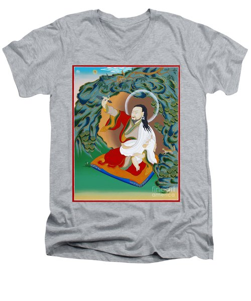 Nubchen Sangye Yeshe Men's V-Neck T-Shirt by Sergey Noskov