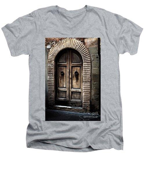 Number 13 Men's V-Neck T-Shirt