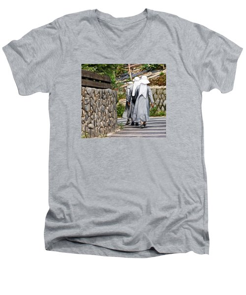 Nuns In A Row Men's V-Neck T-Shirt