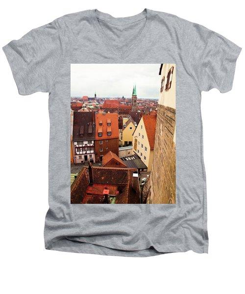 Nuremberg Cityscape Men's V-Neck T-Shirt