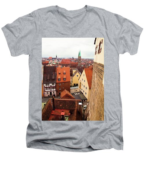 Nuremberg Cityscape Men's V-Neck T-Shirt