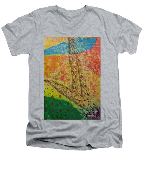 Nurture Men's V-Neck T-Shirt by Mini Arora