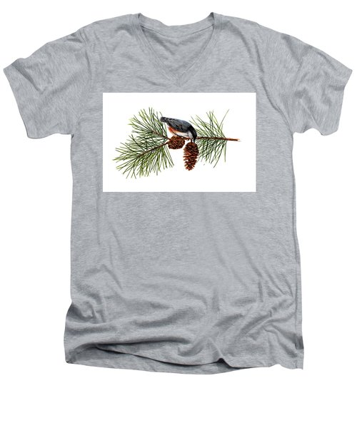 Nuthatch 1 Men's V-Neck T-Shirt