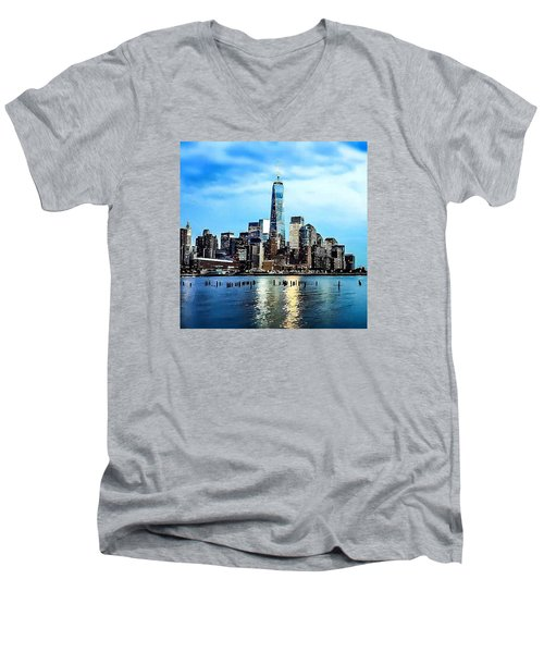 Nyc- A Blue Day Men's V-Neck T-Shirt