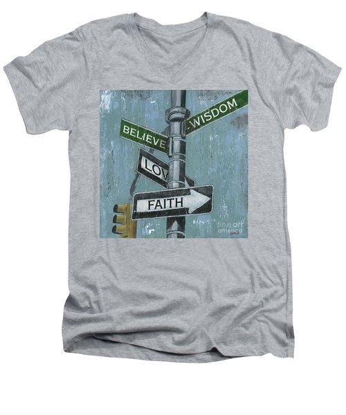 Nyc Inspiration 2 Men's V-Neck T-Shirt