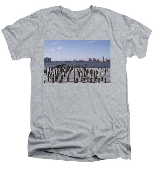 New York City Piers  Men's V-Neck T-Shirt