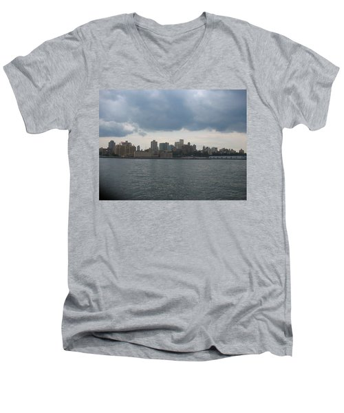 Nyc4 Men's V-Neck T-Shirt by Donna Andrews